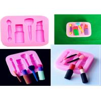 China Lipstick Fondant Sugar Craft Silicone Dessert Molds DIY Decorating Baking Tool on sale