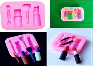 China Lipstick Fondant Sugar Craft Silicone Dessert Molds DIY Decorating Baking Tool on sale