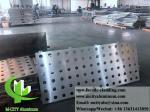 CNC perforated sheet metal Outdoor aluminium sheet facade cladding 3mm folded