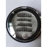 3D Synthetic private label acceptable magnetic eyelashes with 2 or 3 magnets
