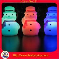 China PVC led flashing snowman Traditional Christmas Decorations lighting HL-C1325 on sale