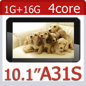China 10 inch Allwinner A31S quad core 1GB RAM 16GB ROM Android 4.4.2 WiFi Bluetooth tablet pc on sale