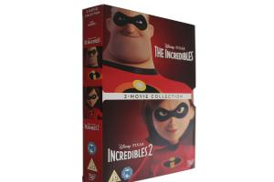 China Incredibles 2 Movie Collection Box set DVD Disney Animation Action Adventure Series DVD For Family Kids UK Edition on sale