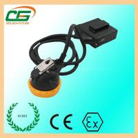 Mini 3.7 V LED Mining Cap Lamp 6.5Ah 10000 Lux With Low Power Indication