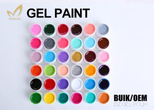 China Fantastic 36 Colors Acrylic Gel Paint , White Gel Paint For Lady'S Nail Beauty on sale