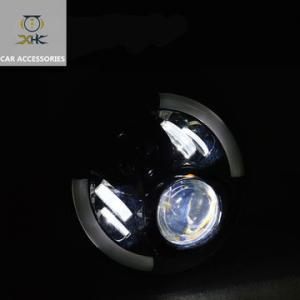 China 70W 6000K 3700lm 1Pair 7 Inch Round Led Off Road Driving Lights , LED Fog Spot Light For Jeep SUV on sale