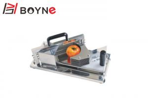 China Mannual Tomato Slicer Machine 4mm Thickness 450x210x210mm Saving Time 5kg Tempered Steel Blades on sale