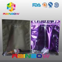 Stand Up Plastic Cosmetic Bag , PA / PE Cosmetic Packaging Bag Front Transparent