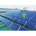 Roof Penetration Free Ballasted Solar Mounting Systems Rail Equipped With Rubber Mat