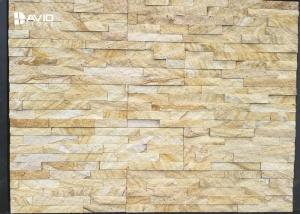 China Yellow Sandstone Cultured Stone Wall Cladding PanelsFire Resistance on sale