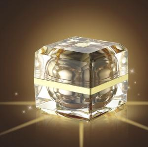 Quality luxurious cosemtic acrylic jar 50g 30g 15g with square shaped for sale