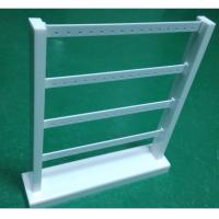 Acrylic Earring Display Stand White Jewellery Stand Rack with 4 Tiers for Drop Earring
