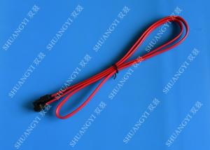 China Cable de datos flexible de SATA de la placa madre de SATA III, cable de SATA del disco duro de 18 pulgadas on sale