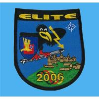 China Corporate logo embroidered emblem crest,branded embroidery patches at less expensive price on sale