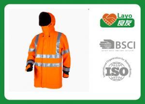 China Layo Heavy Rain Waterproof Rain Jacket Adult OEM / ODM Acceptable on sale