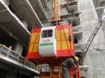 Elevador o único/do gêmeo gaiola 1T 2T da construção da grua, construtores materiais iça (36 M/min)