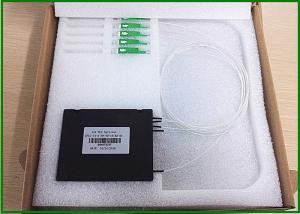 Quality SU / APC 1x4 ports Fiber Optic PLC Splitter Access network and FTTH CATV for sale