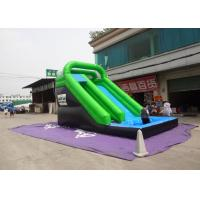 Plato Material Sewing Inflatable Wet Slide , Grenn And Black Water Inflatable Slide