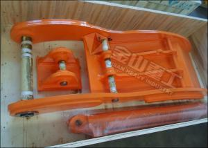 China High Strength Steel Excavator Grapple Bucket , Excavator Thumb Fit PC120 SK135 EX140 ZX140 on sale