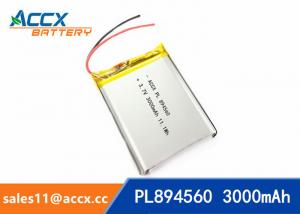 China 894560 pl894560  3.7V 3000mAh battery supplier rechargeable battery for miner lamp on sale