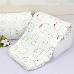 China MBB 020 Neutral Muslin Baby Blankets Large 47 * 47 Inches For Boys / Girls on sale