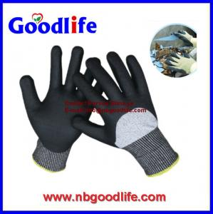 China 10G Cut Resistant Gloves with Black PU on sale