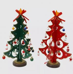 China DIY Wooden Christmas Tree Gift Ornament Table Desk,Christmas Ornaments,Christmas Crafts on sale