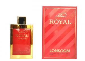 China Custom Packaging Box Red Royal Lonkoom Perfume With Nice Smell 100ml on sale