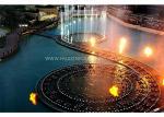 Beautiful Decorative Flaming Water Fountain IP68 273×273×800 Mm Custom Design