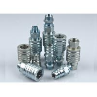 Pull And Push Hydraulic Quick Connect Couplings ISO5675 Rated Flow 12 GPM