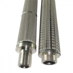 China Pleated Stainless Steel Filter Element Liquid Stainless Steel Mesh Filter Cartridge on sale