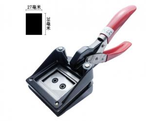 China Manual Metal Handle Passport Photo Cutter Punch 27mm X 38mm ID Photo Cutter on sale