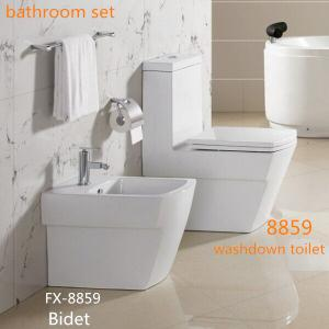 China Hot sale Ceramic Bathroom Sets Washdown One piece Toilet with Bidet and wall-hung toilet on sale