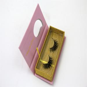 China Glitter Paper False Eyelash Box Packaging  Private Label Eyelash Packaging on sale