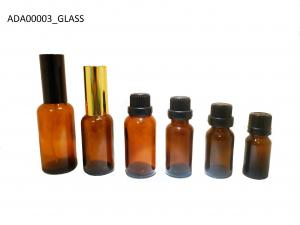 China Decal Essential Oil Amber Glass Bottles 5 ML For Eye Serum on sale