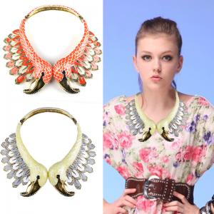 China vintage women New arrival jewelry statement necklace,fashion flower bird necklace on sale