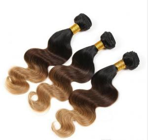 China 3 Tone Body Wave Natural Ombre Hair Extensions Brazilian Hair Weave on sale