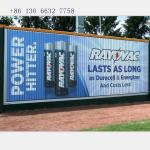 outdoor advertising rotating trivision panel display