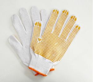 China Cotton string knitted seamless gloves on sale