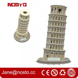 China Architectural models of famous buildings , 3D puzzle souvenir leaning tower of pisa on sale