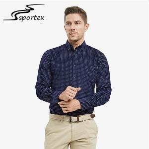 China Autumn Winter Slim Fit Long Sleeve Shirt , Mens Slim Fit Shirts Anti Pilling on sale