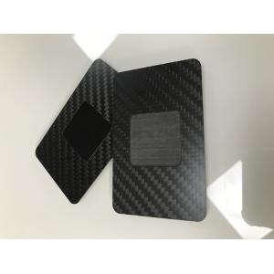 Matte Black  Carbon Fiber Business Cards  With NFC 13.56MHz Chip CR80 85x54mm