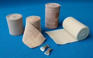 China White and flesh Medical latex elastic bandage on sale