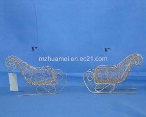 China Christmas Decoration Metal Sled on sale