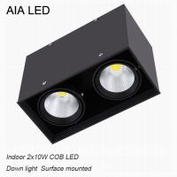 IP42 modern double COB 20W led down light&LED Grille light for ceiling used