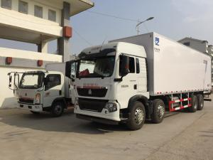 China FRP Refrigerated freezer box truck 4 to 8 tons RHD / LHD for seafood transport on sale