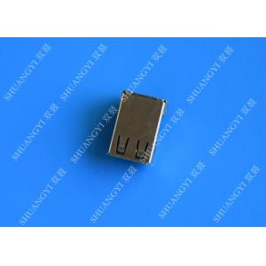 China 4 Pin AF Type USB Charging Connector , Right Angle Female SMT USB 2.0 Connector on sale