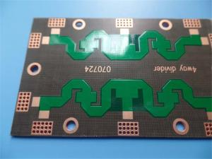 China High frequency PCB on PTFE 1.5mm 2 Layer Green Solder Mask and OSP on sale