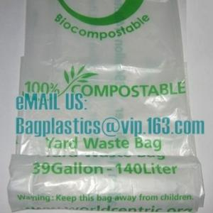 China en13432 corn starch based wholesale biodegradable 100% compostable bags on roll, cornstarch made 100% biodegradable on sale