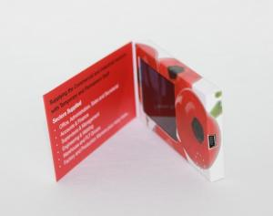 China 90*50 mm Customized Video Business Card with Magnetic switch , boot logo on sale